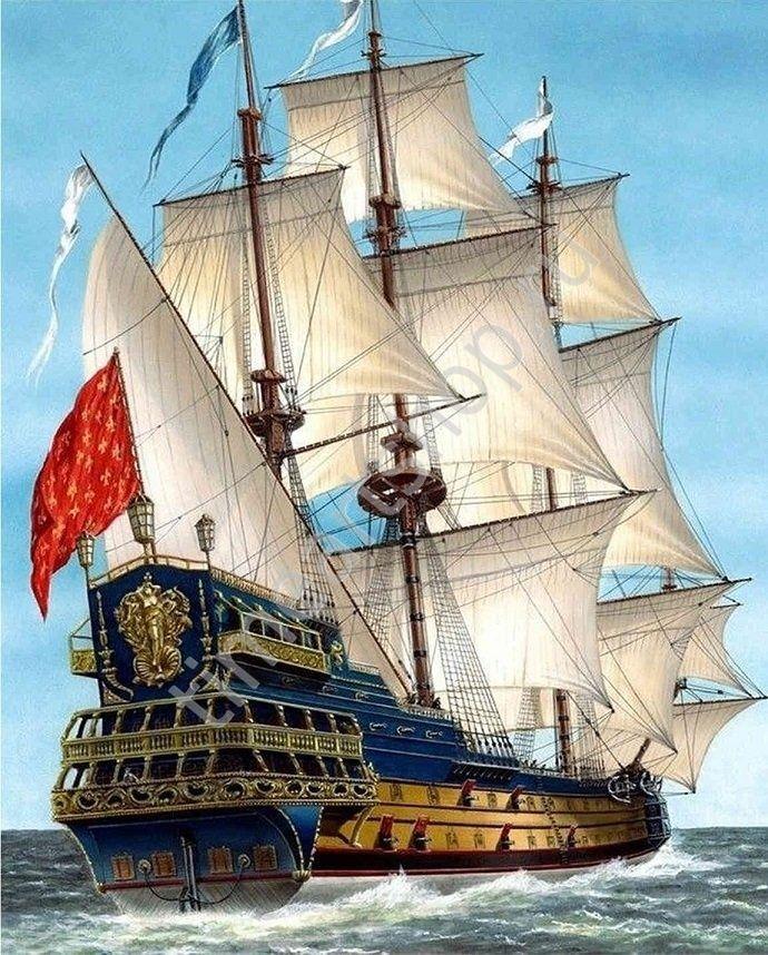 Линейный корабль Сирена, картина раскраска по номерам, на ...