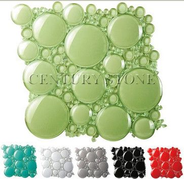 3d Bubble Round Glass Mosaic Tile Mosaic Glass Glass Mosaic Tiles Bubble Glass
