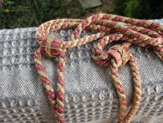 Vintage tassels Drapery tiebacks by HeronsTreasures on Etsy