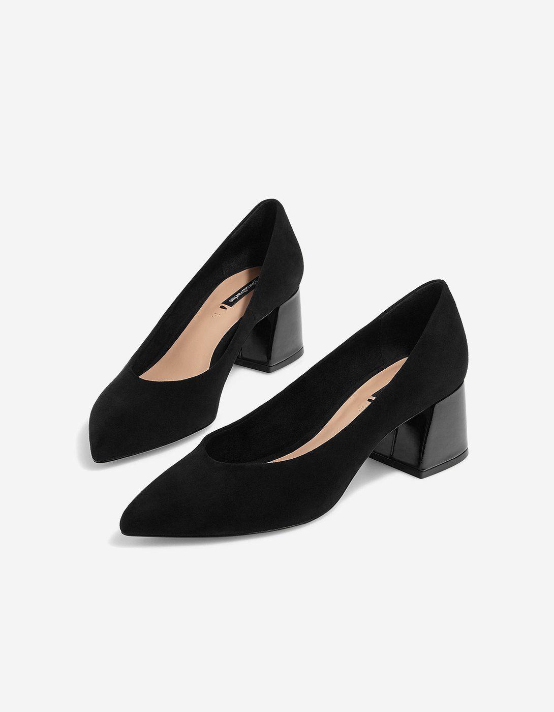 zapatos de salon tacon ancho 2018