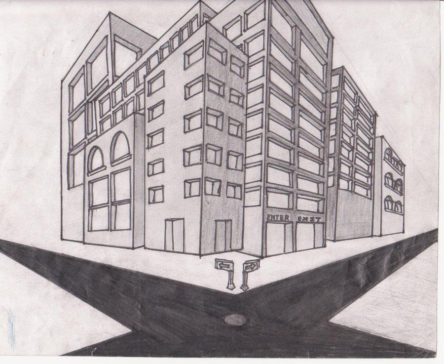 Perspective Drawings Of Buildings building art perspective | perspective drawingulquiorra2011