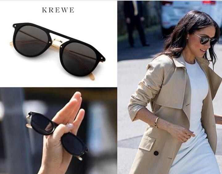 299c98a114 KREWE Eyewear Black Gravier Sunglasses ( 315) as seen on Meghan Markle