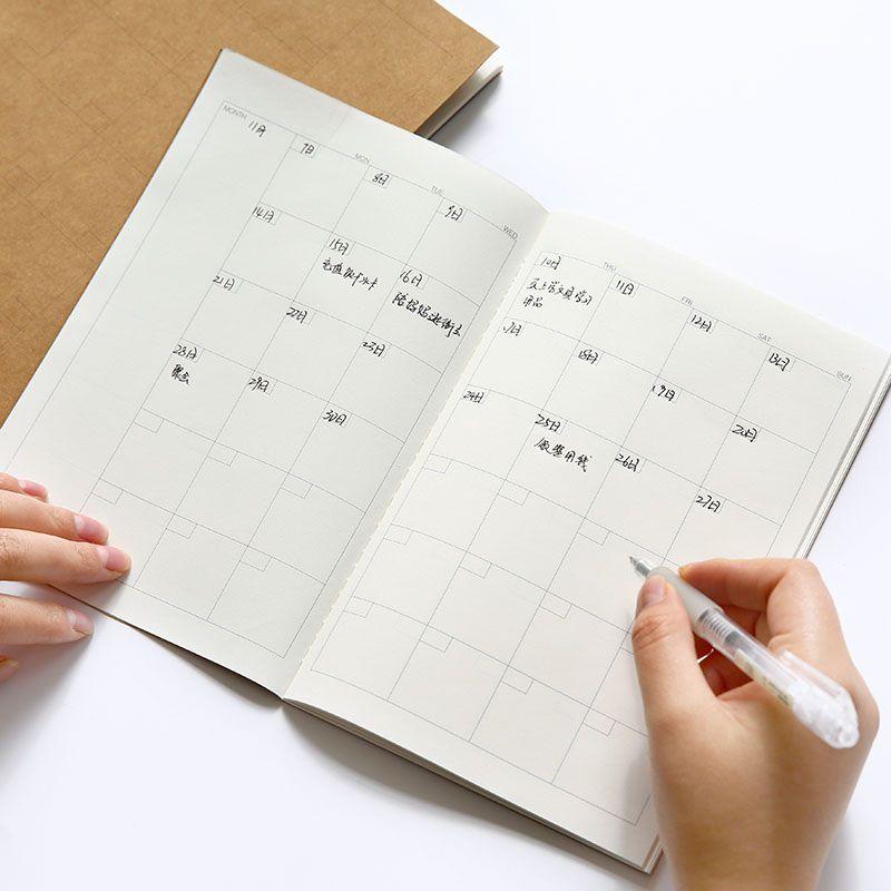 Agenda 2017 B5 cowhide cover stitch book notepad high quality - agenda