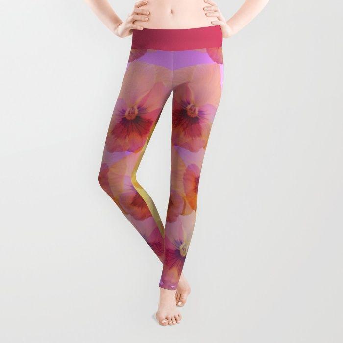 Pastel Pansies Leggings