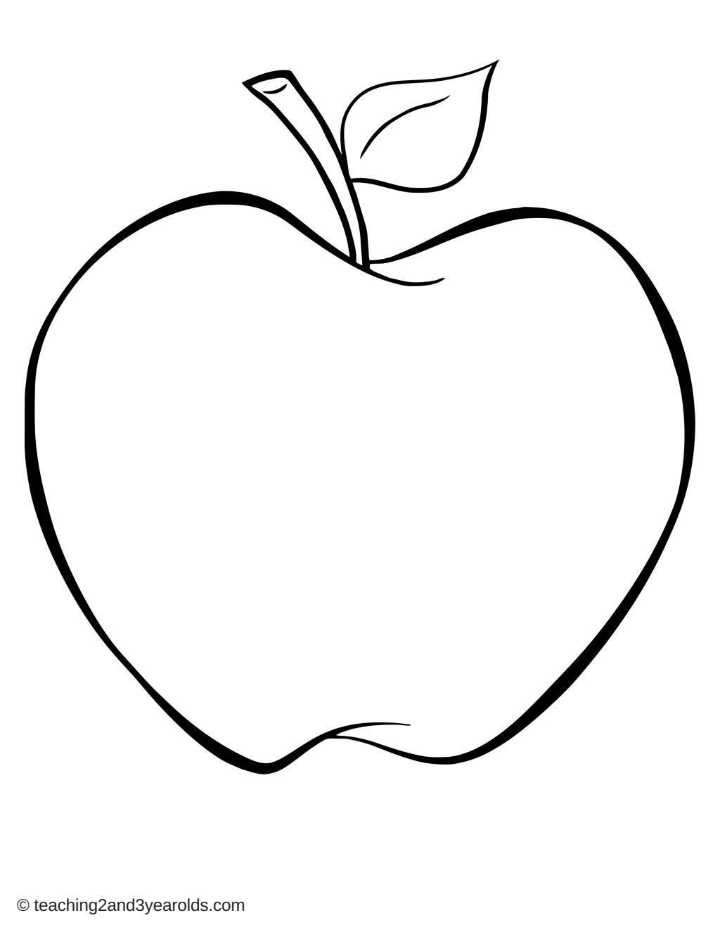 apple outline printable single.pdf Google Drive Apple outline, Apple, Outline