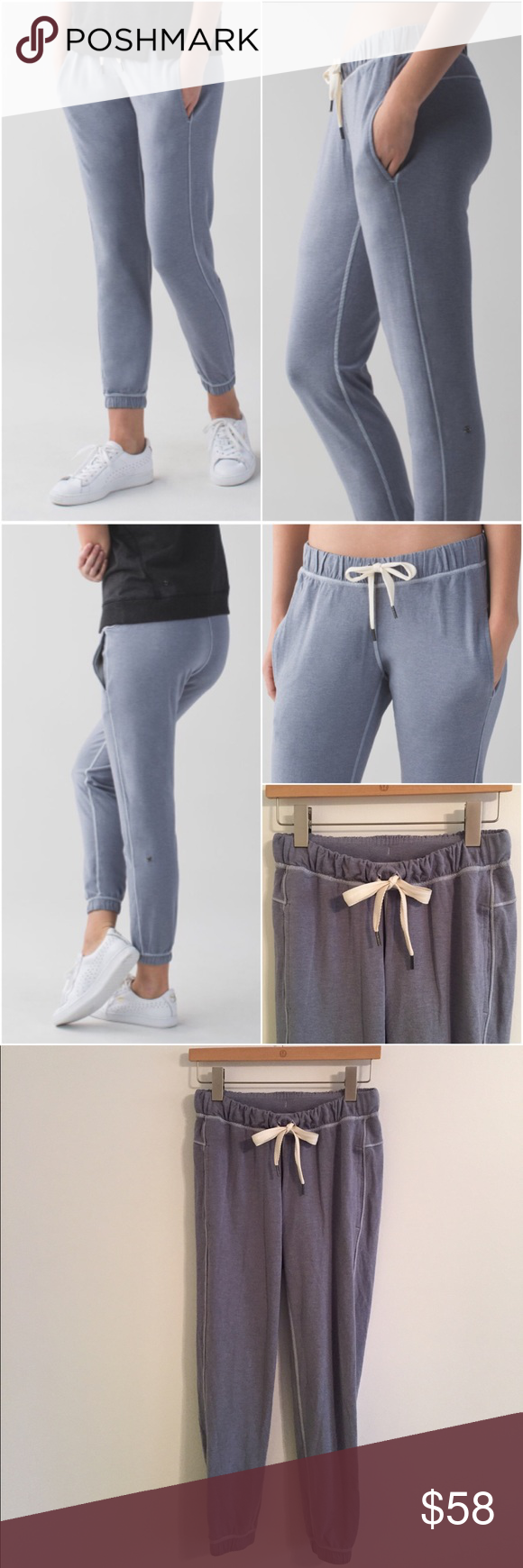 Lululemon Serenity Pant Lululemon Serenity Pant in the color Heathered Mod Blue Denim, size 4, great condition with no flaws. Buttery soft and so comfortable! Bundle to save 10% off ❤️ lululemon athletica Pants Track Pants & Joggers