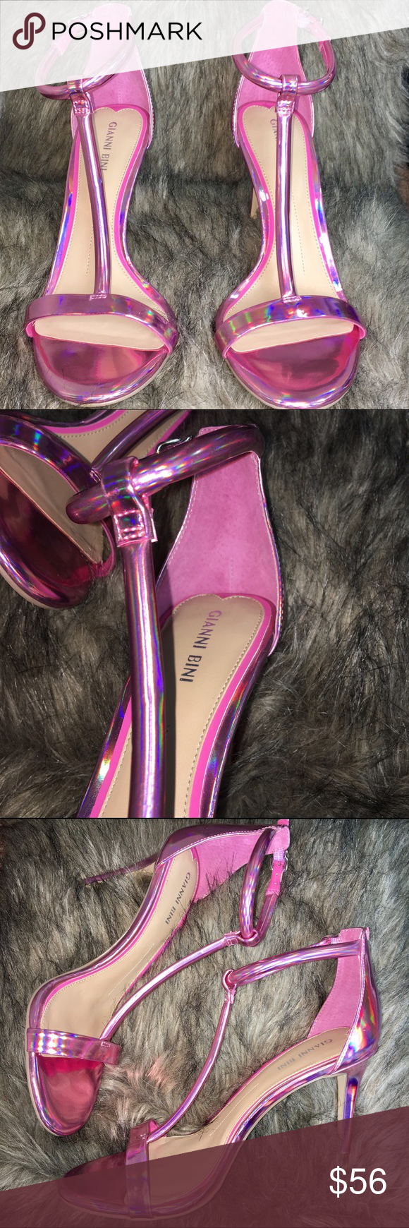 151923c0e1c Pink Holographic/ Holo Gianni Bini Heels ABSOLUTELY GORGEOUS HEELS ...