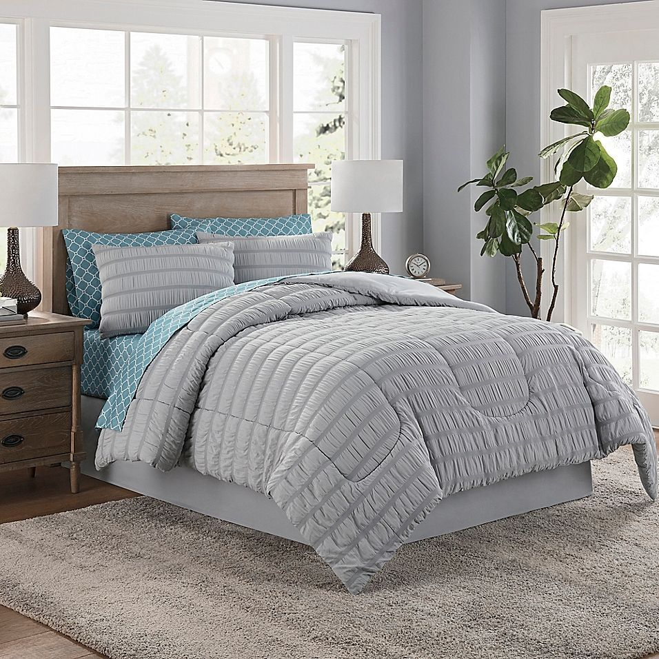 Photo of Lindsay 6-piece twin comforter set in gray #lindsay #partial #troster