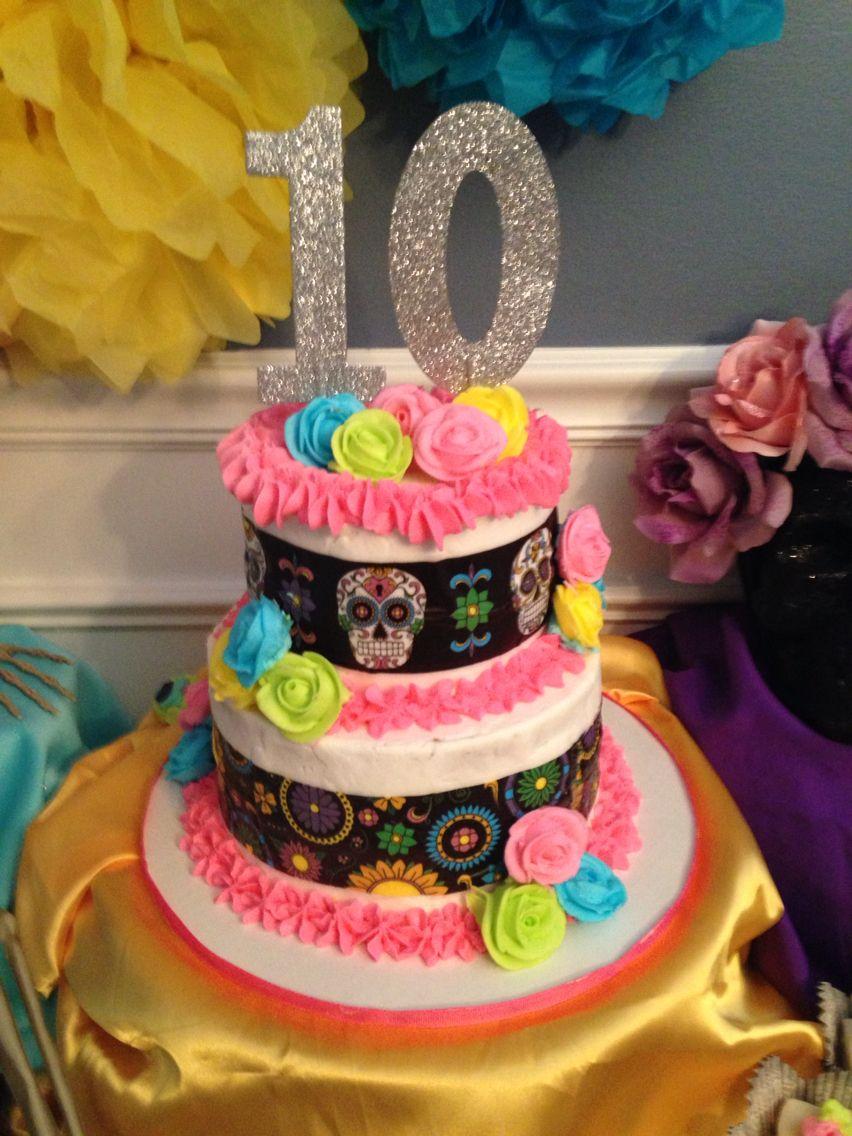 Day Of The Dead Birthday Cake Cakes By Tara Pinterest Birthday