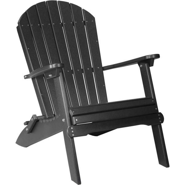 LuxCraft Recycled Plastic Folding Adirondack Chair | Polywood Adirondack  Chairs And Cabin