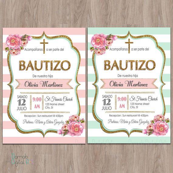 Bautizo Invitations Invitaciones De Bautizo Invitations De