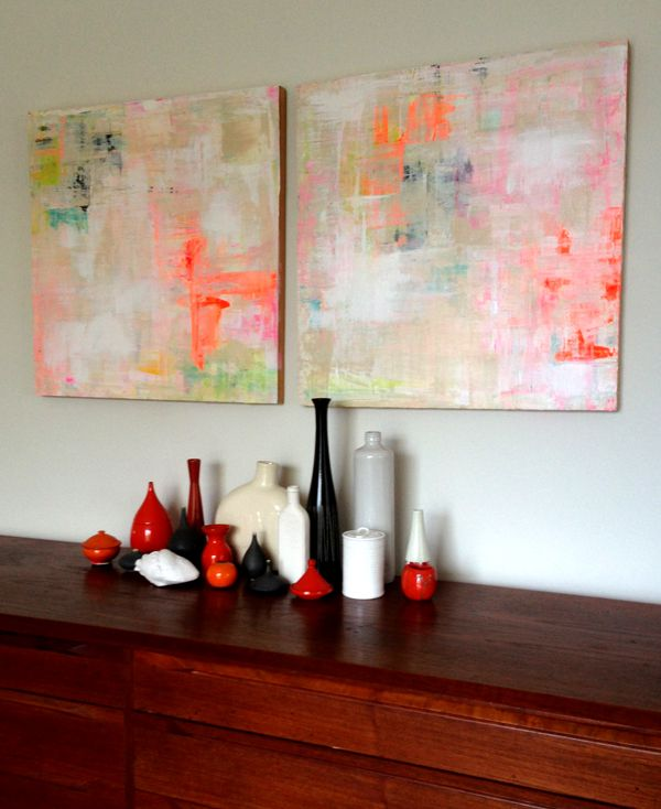 Abstract paintings by lisa congdon btw please visit http