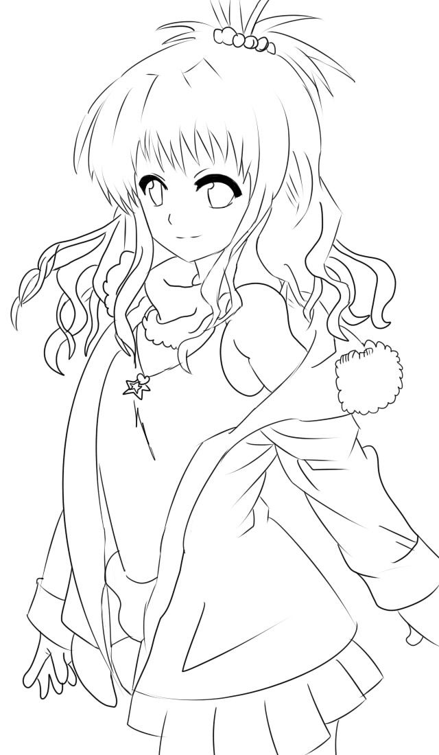 Anime Art Worksheet : Anime line art wings google search my coloring book