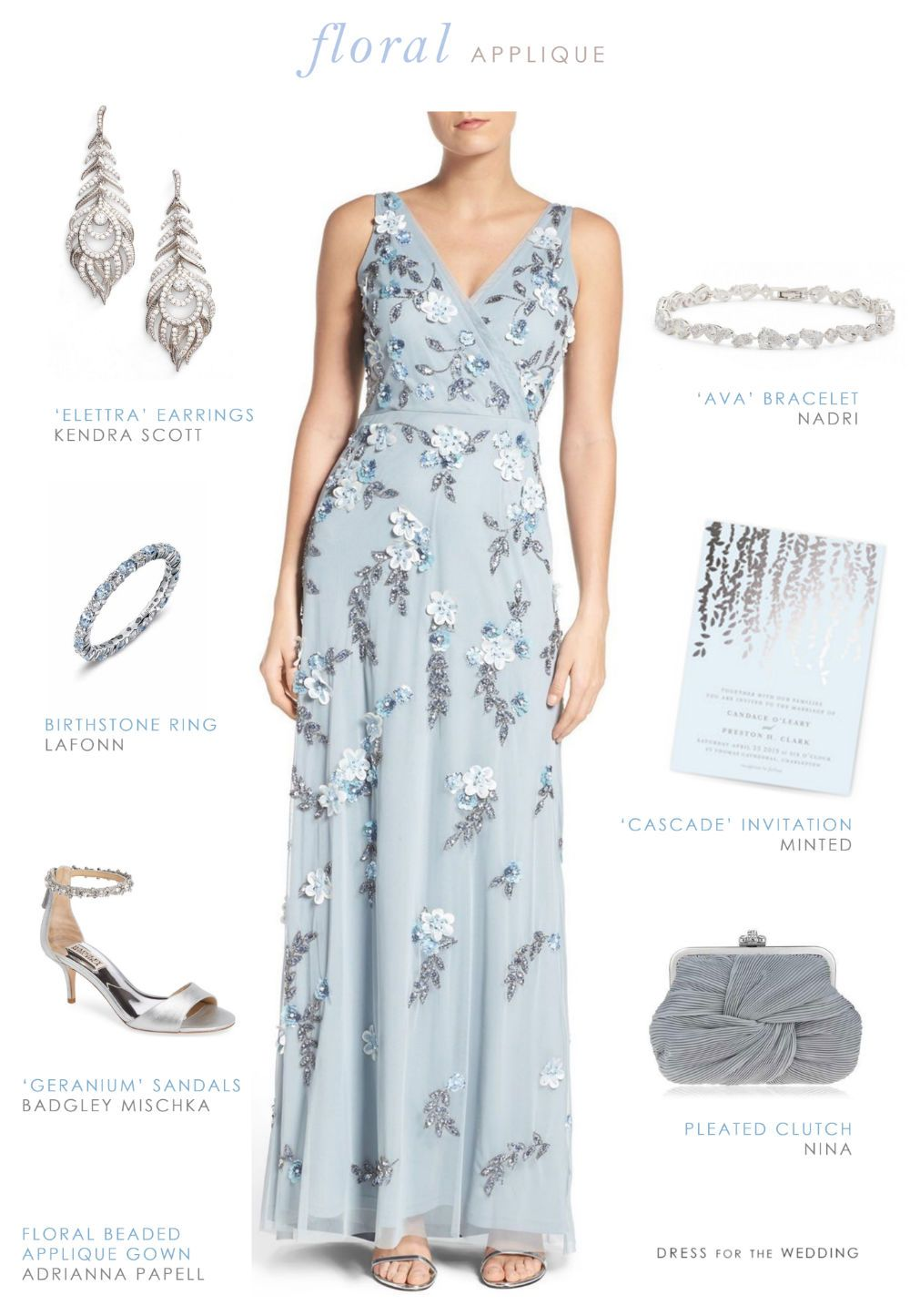 Blue Floral Evening Gown | Formal, Gowns and Floral