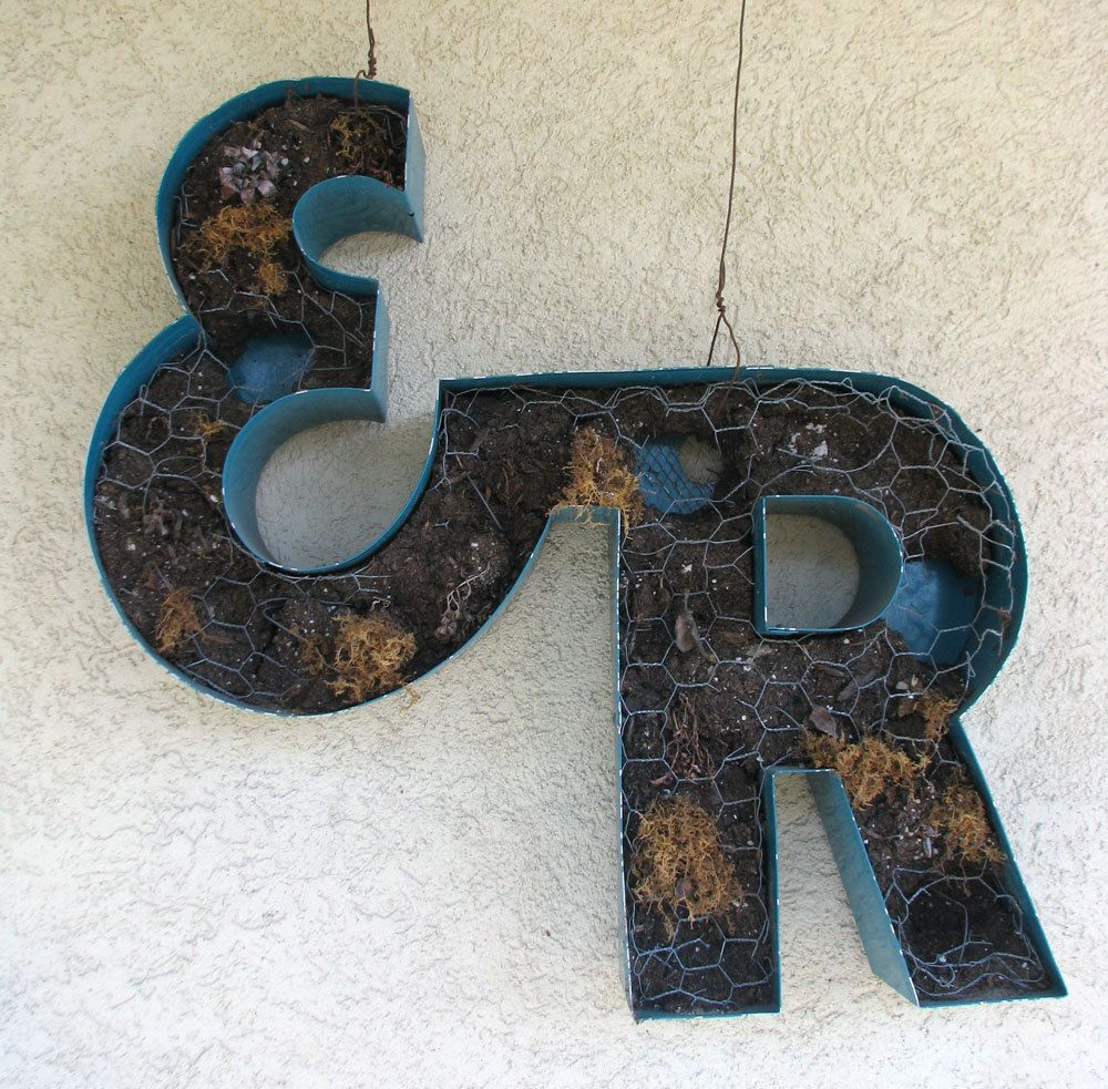 Industrial Wall Decor Vintage Metal Sign Channel Letter Er Marquee Sign 24 Tall