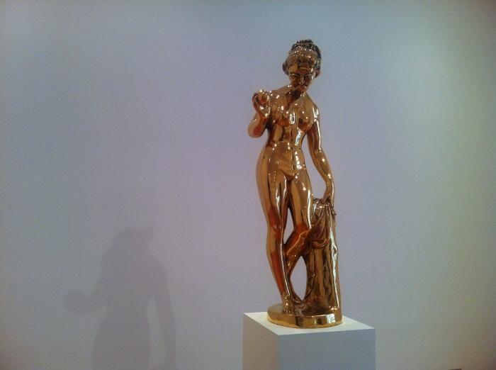 GEORGE CONDO bronze sculpture at Skarstedt Gallery, New York. Photo Bill Powers