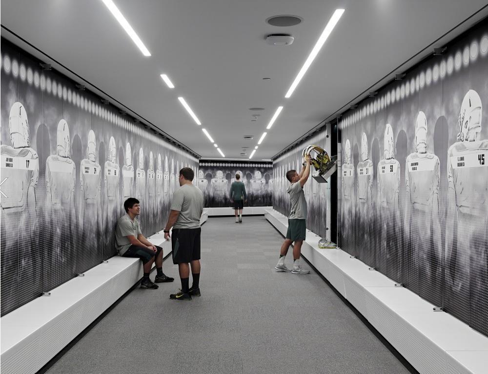 University Of Oregon Locker Room Commercial Space