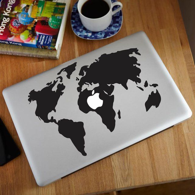 This fun design maintains the sleek and contemporary design of world map macbook decal gumiabroncs Gallery