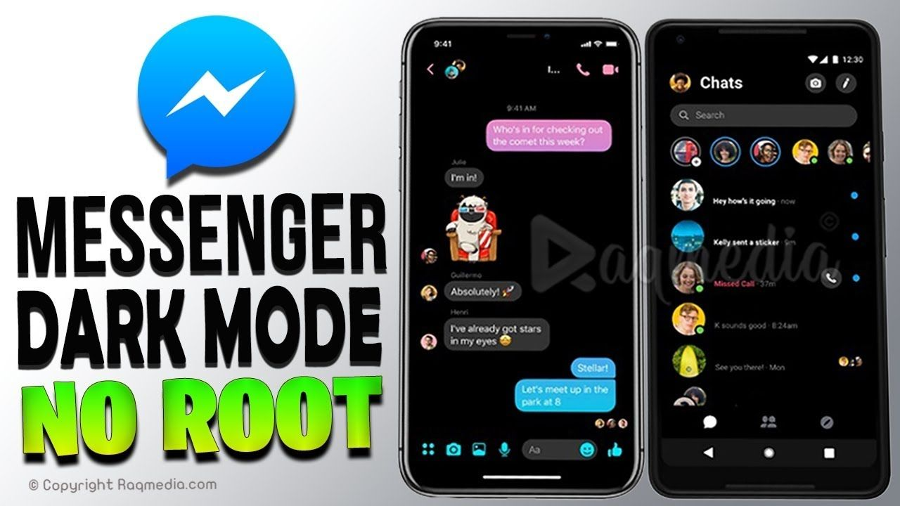 How To Enable Messenger Dark Mode 🌙 without Root