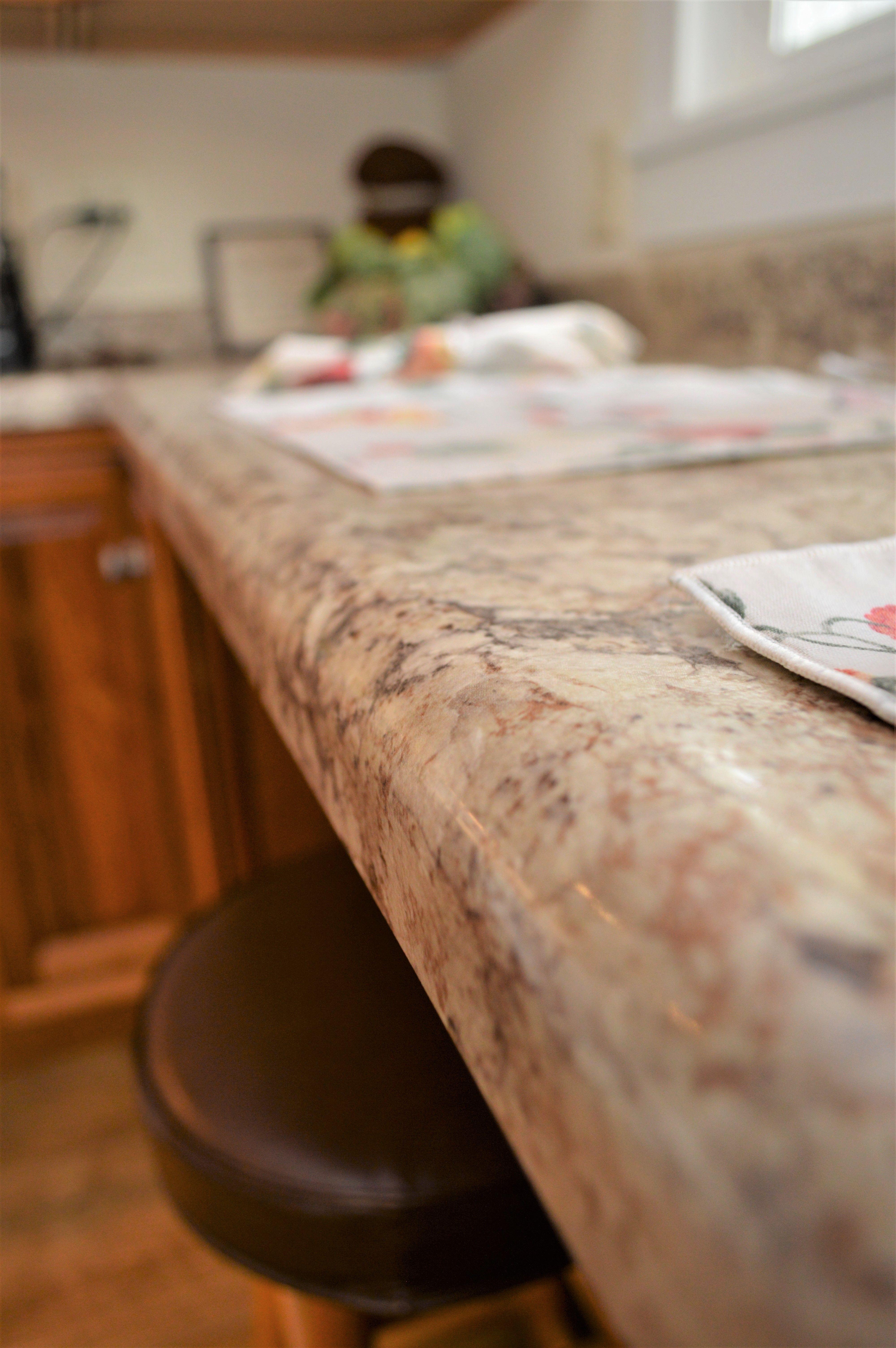 Laminate Countertop Ultra Form Edge Detail Coved Backsplash Autumn Carnival Color Laminate Countertops