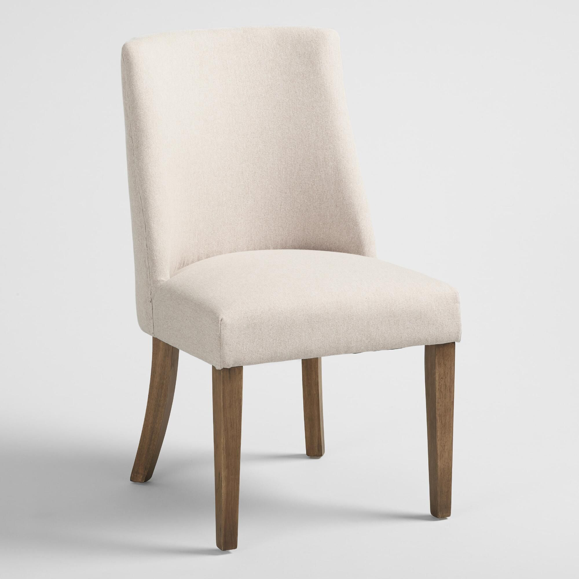 Natural Upholstered Lisette Dining Chair Set of 2 Fabric