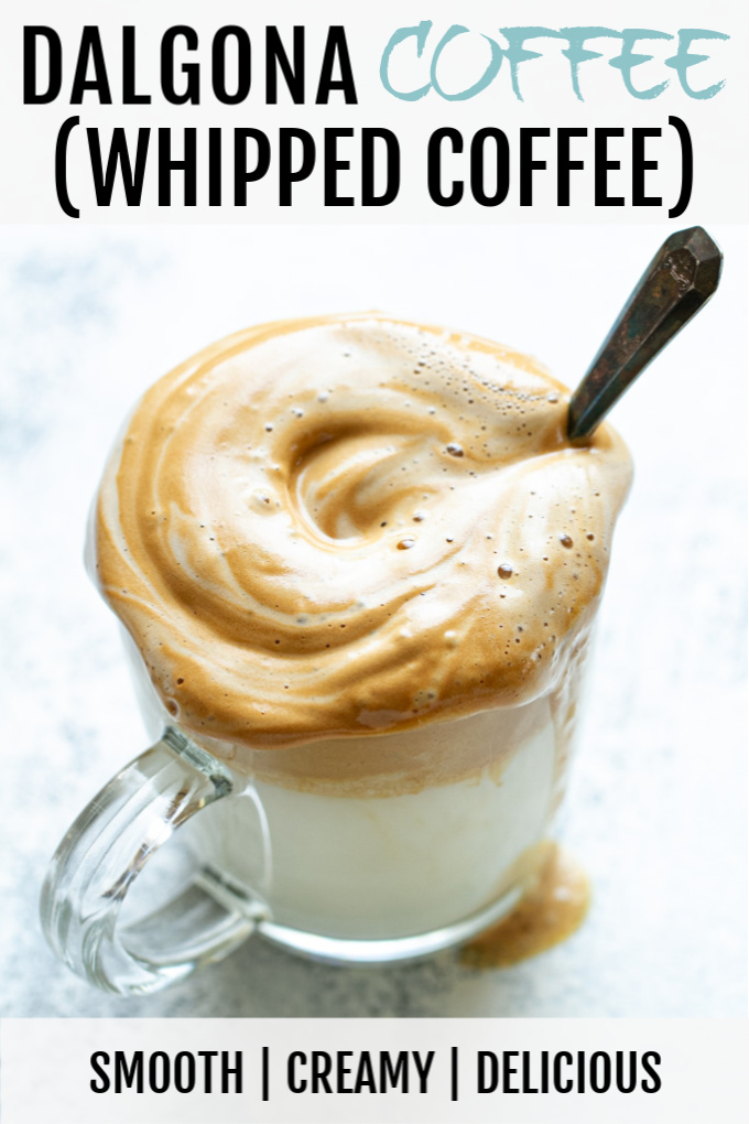 Dalgona Coffee (How To Make Whipped Coffee) Recipe in