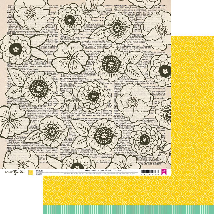 Flower design paper drawing valoblogi draw flowers on dictionary or book paper tribeca soho garden by american crafts also rh pinterest mightylinksfo