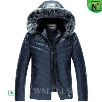 0d0fae185 ITALIAN Brand | CWMALLS® Milan Designer Leather Down Jacket CW807033 ...