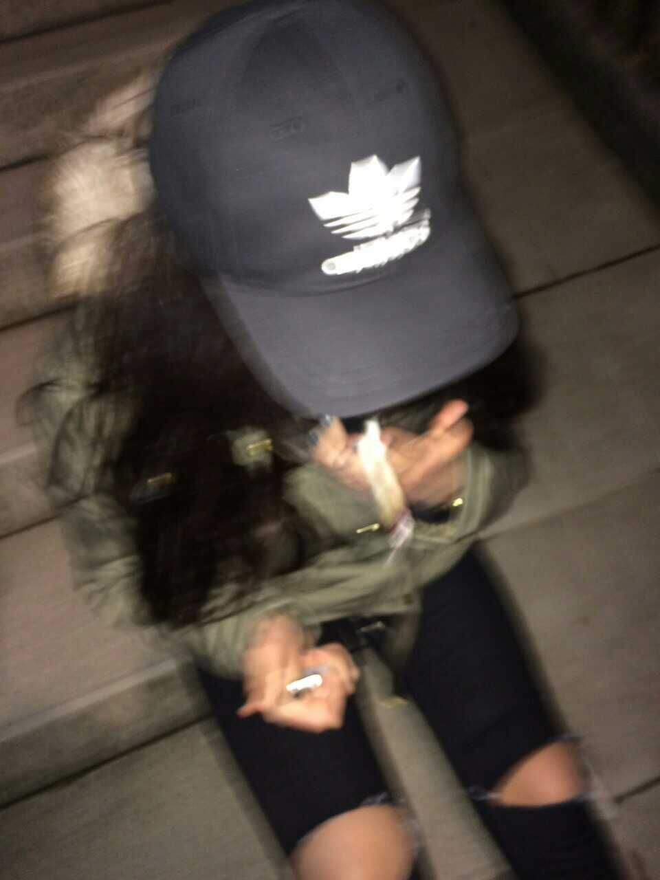 Adidas Cap Tumblr Girl