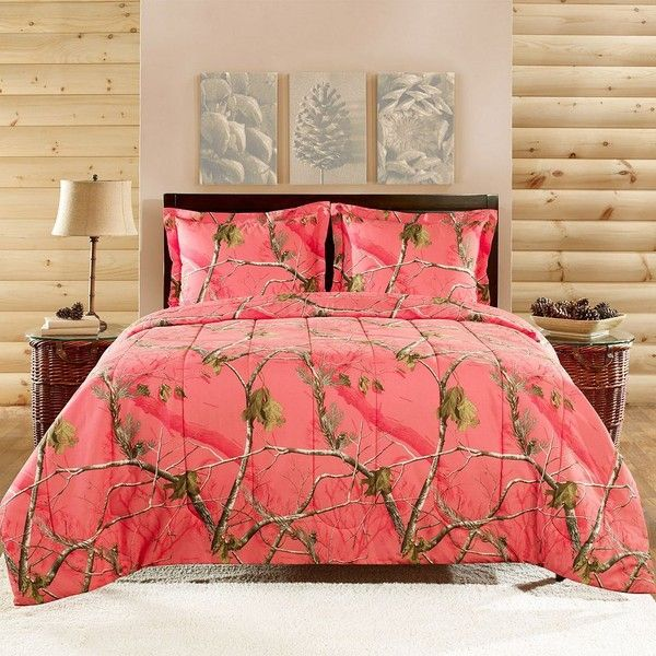 Realtree Camo Comforter Set Orange 65 Liked On Polyvore