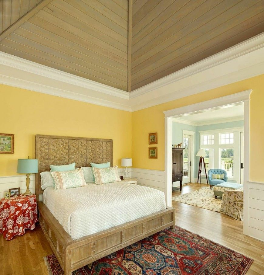 Image result for oriental rug with light yellow wall | Yellow room ...