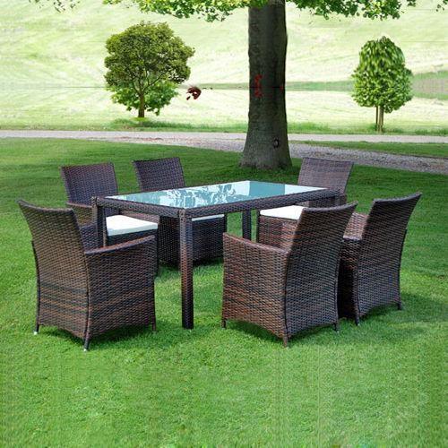 Ratanový nábytek 13 dílů hnědý Ležérní styl Pinterest - gartenmobel polyrattan eckbank
