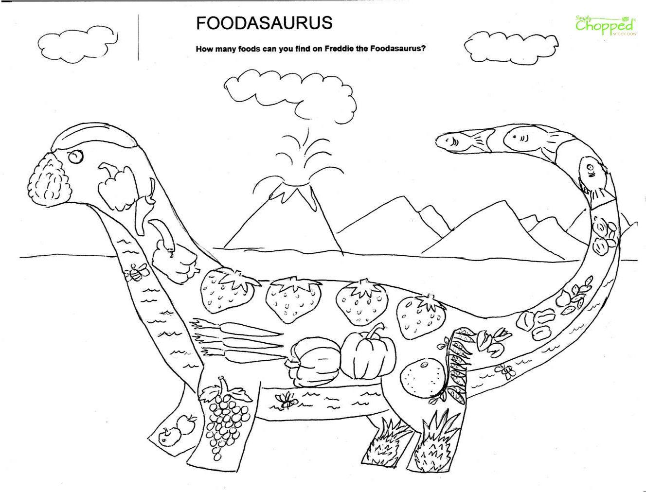 Foodasaurus Local Georgia Artist Sheila Sullivan Created These Unique Wonderful Coloring P Food Coloring Pages Dinosaur Coloring Pages Fruit Coloring Pages