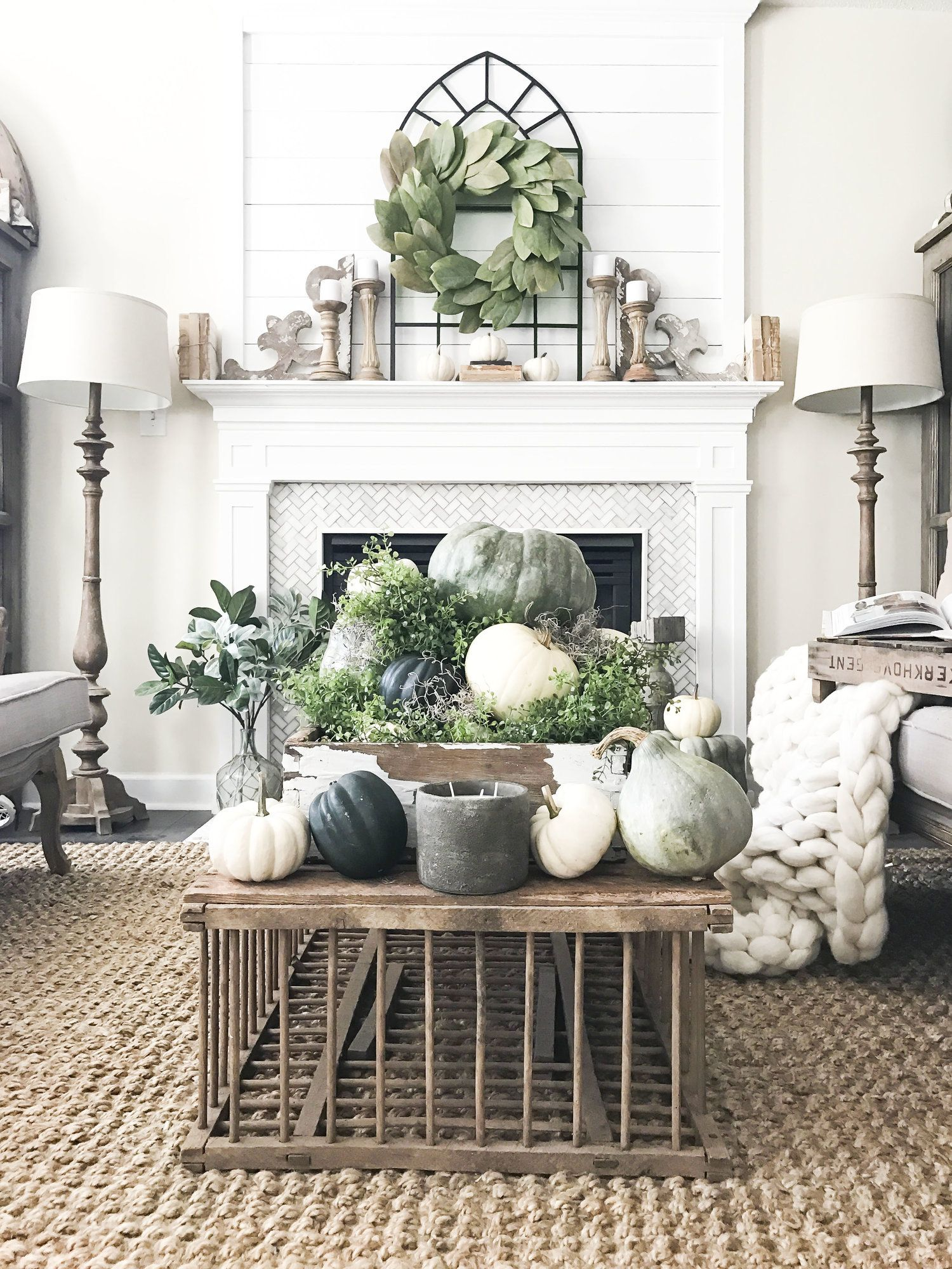 Fall into our Homes- My 2017 Fall Home Tour | Pinterest | Neutral ...