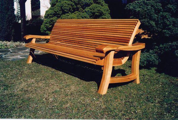 suche massive gartenbank holz 3 sitzer outdoor furniture outdoor park