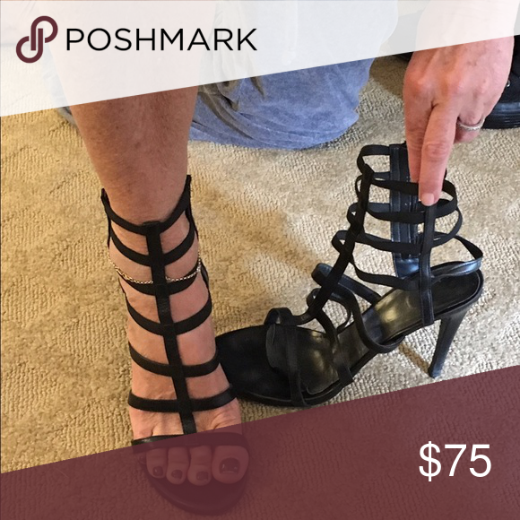 Gladiator pumps Sexy zip up gladiator 3 inch heels Stuart Weitzman Shoes Heels