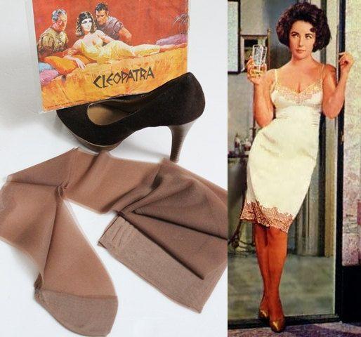Vintage Stockings Size 10 Elizabeth Taylor Cleopatra ...