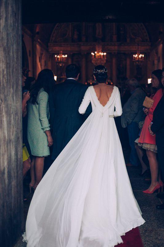 La boda de María e Iván en A Coruña - La Champanera   vestidos ...