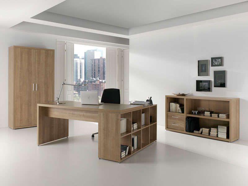 Bureau 180 cm retour sofy coloris noccé vente de bureau