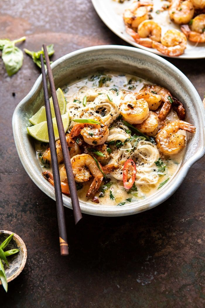 Saucy Garlic Butter Shrimp with Coconut Milk and Rice ...