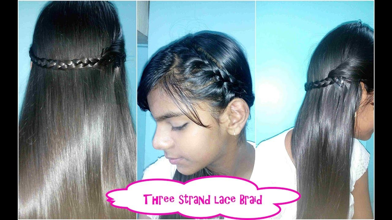 Lace braid three strand in easy way simple hairstyle hair