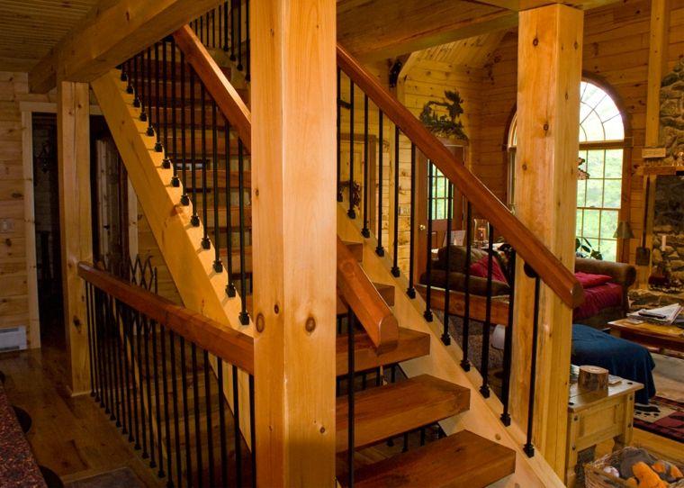 Escaleras De Madera Rusticas. Free Excellent Diseo De Escalera En U ...