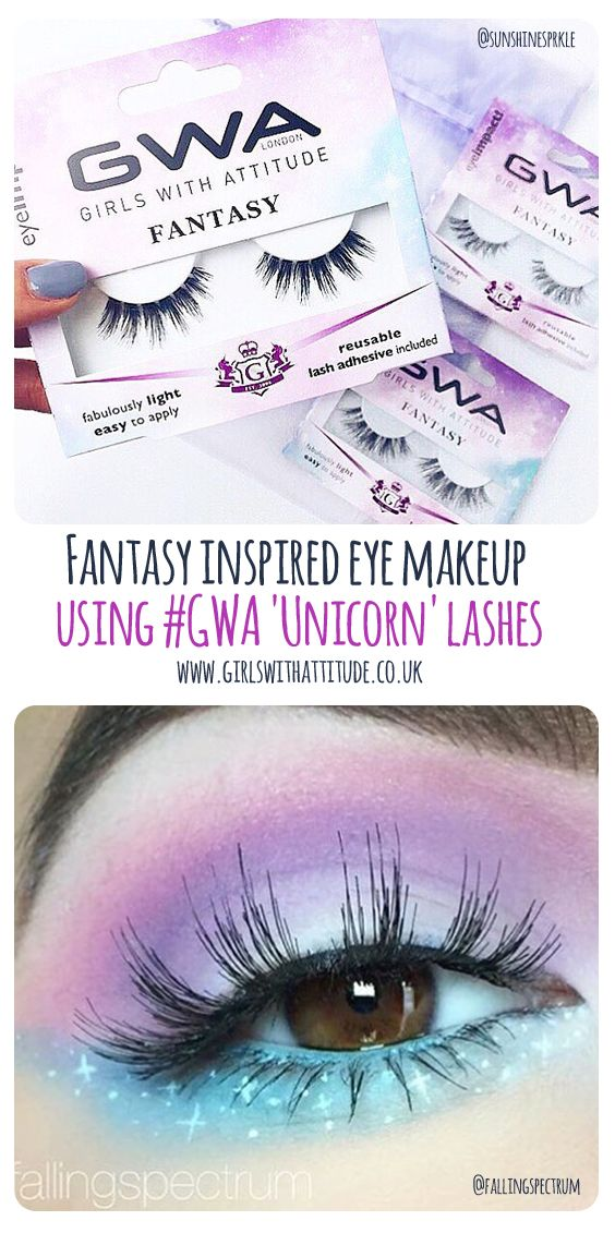 7030a1a0adc Fantasy inspired eye makeup Makeup by @fallingspectrum using #GWA 'Unicorn' false  lashes ✨ www.girlswithattitude.co.uk ✨ #GWALondon