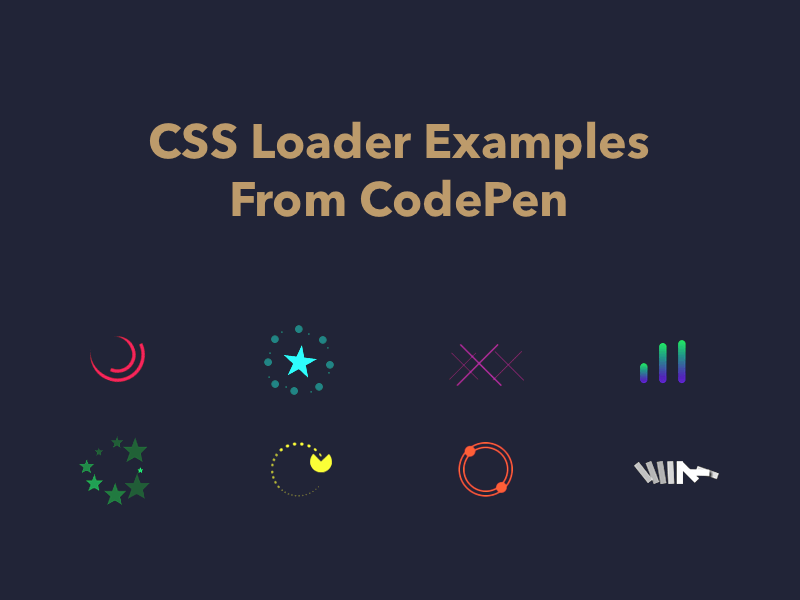 CSS Loader Examples From CodePen | loading | Tool design