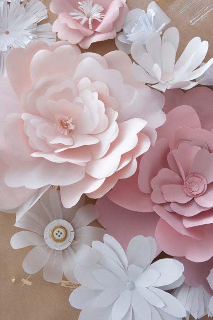 6 Pretty Diy Paper Flowers Crafts Miscellanious Pinterest