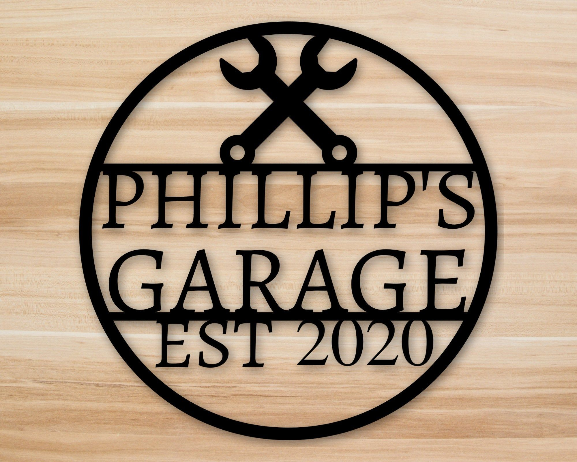 personalized sign, garage decor, custom sign, office, tool shed, gift for dad, gift for him, gift for her, custom metal garage sign, sign