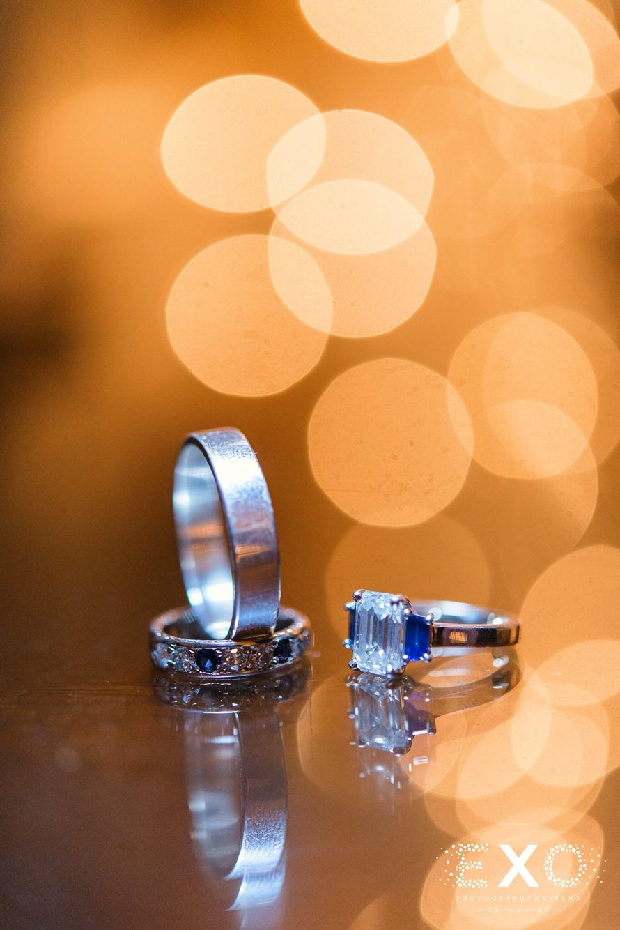 Blue diamond engagement ring photographed by exo photography long