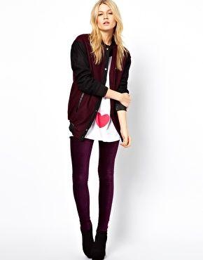 d99096dde9a667 Leggings in Velvet Cord | ASOS Wishlist | Asos leggings, Purple ...