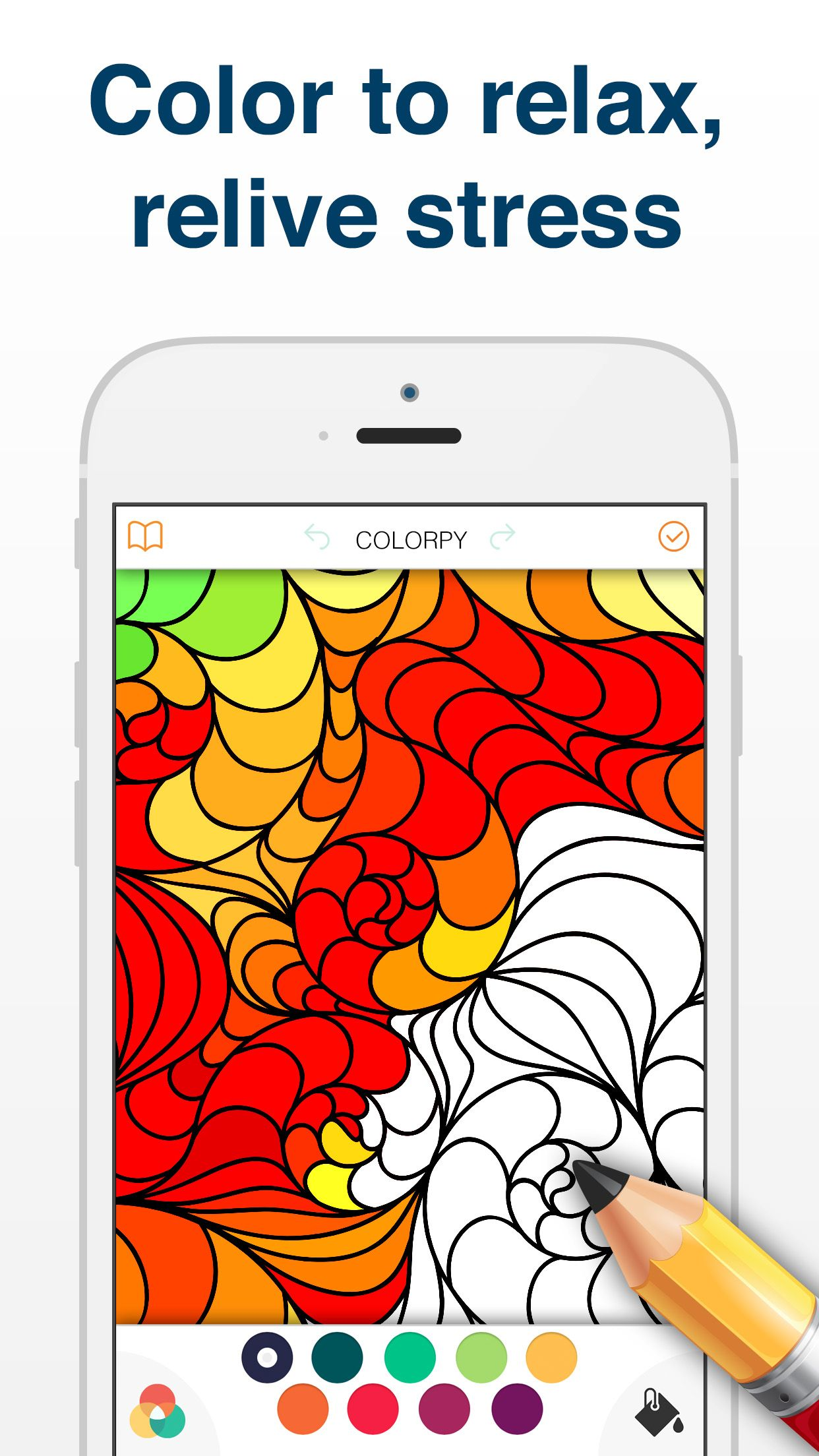 Install App For Ios Or Android Now For Free Color Therapy Coloring Book For Adults And Kids Free Stuff By Mail Arts And Crafts For Kids Free Beauty Samples