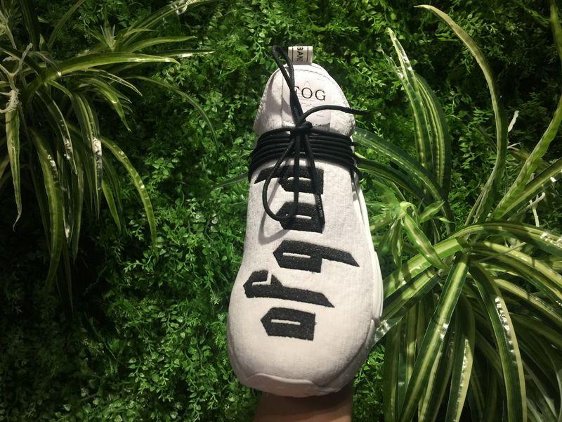 e0efe0db8d3b8 Popular Fear of God x Adidas NMD Human Race Boost White Black 2018 Online